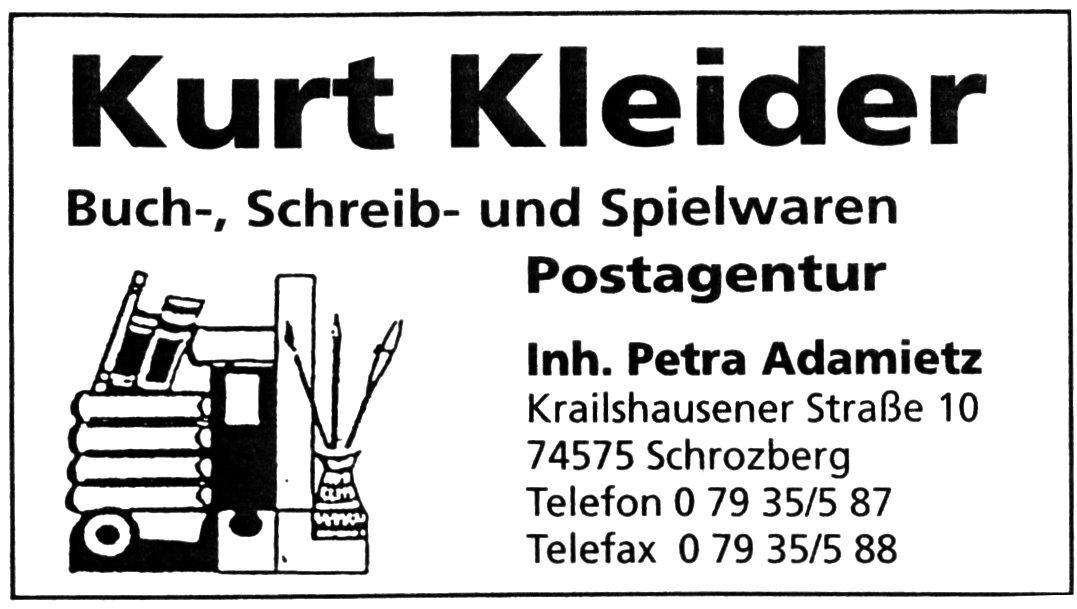 Logo Schreibwaren Kleider